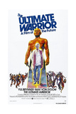 THE ULTIMATE WARRIOR, US poster, Yul Brynner, Max Von Sydow (inset), 1975 Prints