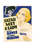 SATAN MET A LADY, US poster art, from left: Warren William, Bette Davis, 1936 Art