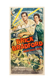 BRICK BRADFORD, l-r: Kane Richmond, Linda Leighton on US poster art, 1947. Posters