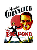 THE BIG POND, Maurice Chevalier on window card, 1930. Prints