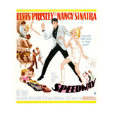 SPEEDWAY, full figure center from left: Elvis Presley, Nancy Sinatra, 1968 Kunstdrucke