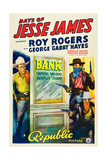 DAYS OF JESSE JAMES, left: Roy Rogers, 1939 Print