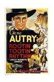 ROOTIN' TOOTIN' RHYTHM, top and bottom: Gene Autry, 1937 Art