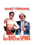 LES ROIS DU SPORT, French poster art, from left: Fernandel, Raimu, 1937 Kunst