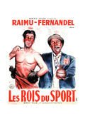 LES ROIS DU SPORT, French poster art, from left: Fernandel, Raimu, 1937 Art