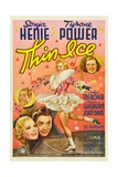 THIN ICE, Sonja Henie, Tyrone Power, Arthur Treacher, Joan Davis, 1937. Plakat