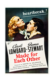 MADE FOR EACH OTHER, US poster art, from left: Carole Lombard, James Stewart, 1939 Affiche