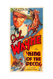 KING OF THE PECOS, John Wayne on poster art, 1936. Art