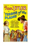 TERROR OF THE PLAINS, left: Roberta Gale, right: Tom Tyler, 1934. Posters