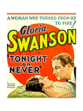 TONIGHT OR NEVER, from left on US poster art: Gloria Swanson, Melvyn Douglas, 1931 Posters