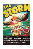 THE STORM, US poster art, fighting from left: Charles Bickford, Tom Brown, 1938 Prints