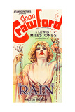 RAIN, Joan Crawford on poster art, 1932. Posters