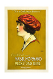 PECK'S BAD GIRL, Mabel Normand on poster art, 1918. Prints