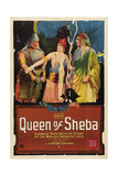 QUEEN OF SHEBA, center: Betty Blythe, 1921 Posters