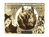 LOVE, left and left inset: Roscoe 'Fatty' Arbuckle, right and right inset: Winifred Westover, 1919. Art