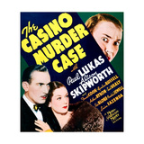 THE CASINO MURDER CASE, US poster art, bottom from left: Paul Lukas, Rosalind Russell, 1935 Prints