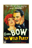 THE WILD PARTY, from left: Clara Bow, Fredric March, 1929. Poster