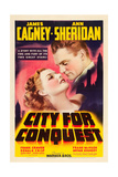 CITY FOR CONQUEST, Ann Sheridan, James Cagney, 1940. Lámina giclée premium