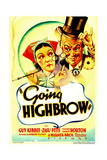 GOING HIGHBROW, from left: Zasu Pitts, Guy Kibbee on midget window card, 1935. Prints