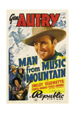 MAN FROM MUSIC MOUNTAIN, Gene Autry, Smiley Burnette, Carol Hughes, 1938 Posters