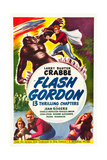 FLASH GORDON, top and bottom: Buster Crabbe on poster art, 1936. Posters