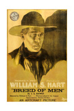 BREED OF MEN, William S. Hart on poster art, 1919 Poster