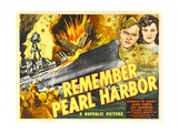 REMEMBER PEARL HARBOR, from left: Donald M. Barry, Fay McKenzie, 1942. Poster