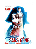 MADAME, (aka MADAME SANS-GENE), French poster, Arletty, 1941 Posters