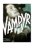 VAMPYR, from top on German poster art: Sybille Schmitz, Maurice Schutz, 1932 Poster