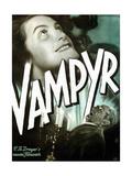 Vampyr, German poster art, Sybille Schmitz, Maurice Schutz, 1932 Poster