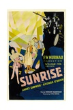 SUNRISE (aka 'SUNRISE: A SONG OF TWO HUMANS'); in foreground Poster