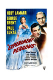 EXPERIMENT PERILOUS, US poster, from left: Hedy Lamarr, George Brent, Paul Lukas, 1944 Prints