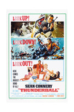 THUNDERBALL, US poster, Sean Connery, 1965 Prints