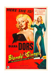 YIELD TO THE NIGHT, (aka BLONDE SINNER), Diana Dors, 1956 Art