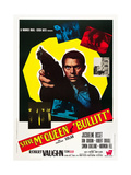 BULLITT, Steve McQueen on Italian poster art, 1968 Prints