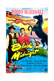 BLACK MIDNIGHT, US poster, middle from left: Damian O'Flynn, Lyn Thomas, Roddy McDowall, 1949 Prints