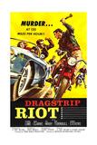 DRAGSTRIP RIOT, poster art, 1958 Julisteet