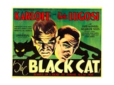THE BLACK CAT, Boris Karloff, Bela Lugosi, 1934 Poster