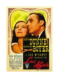 LOVE AFFAIR, from left: Irene Dunne, Charles Boyer, 1939 Posters