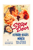 STAGE DOOR, from bottom left: Gail Patrick, Ginger Rogers, Adolphe Menjou, Katharine Hepburn, 1937. Print