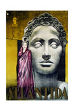 L'ATLANTIDE, (aka MISTRESS OF ATLANTIS, aka ATLANTIDA), Brigitte Helm on Italian poster art, 1932 Poster