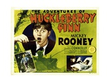 THE ADVENTURES OF HUCKLEBERRY FINN, left:  Mickey Rooney, 1939. Art