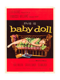 BABY DOLL, Carroll Baker on US poster art, 1956 Art