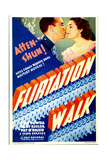 FLIRTATION WALK, Dick Powell, Ruby Keeler on midget window card, 1934 Plakater