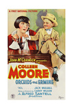 ORCHIDS AND ERMINE, l-r: Colleen Moore, Mickey Rooney on poster art, 1927 Posters