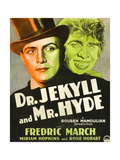 DR. JEKYLL AND MR. HYDE, Poster Art featuring Fredric March on window card, 1931. Prints