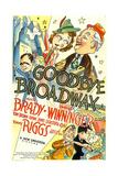 GOODBYE BROADWAY - Poster