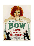 LOVE AMONG THE MILLIONAIRES, Clara Bow on window card, 1930. Art