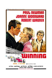 WINNING, from left: Paul Newman, Joanne Woodward, Robert Wagner, 1969 Prints