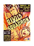 DEVIL'S SQUADRON, top: Richard Dix, bottom: Karen Morley on window card, 1936 Prints